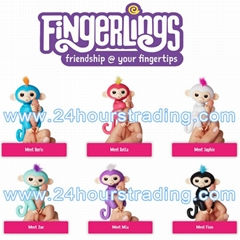 Fingerlings Interactive Baby Monkey Smart Touch Fingers Monkey Children Toys