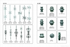 Wrought iron guardrail accessories Cast steel & Wrought iron Ornaments
