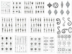 Wrought Iron Gates Finials&Spears Points
