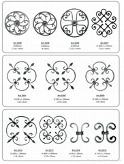 wrought iron Flower Panels