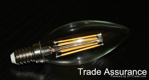 COB COG COW light C35 B35 lamp E12 E14 2W 4W LED filament candle bulb  4