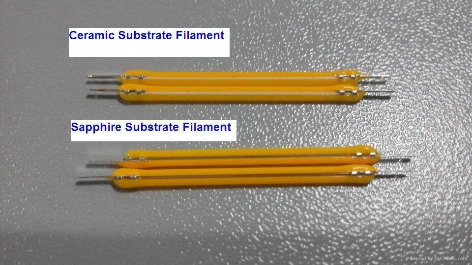 360 degree High power COB COG COW EPISTAR chips sapphire Led filament 3