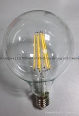 2700K G80 G95 G125 2W 4W 6W E27 E26 B22 dimmable COB edison led filament globe