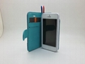 New Model Jean Phone Case for iPhone 5 Real Flip Leather Case with Factory Price 5