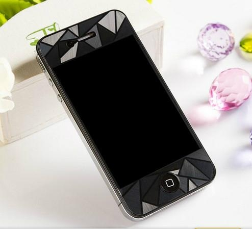 3D Diamond Full Body Front Back Screen Protector Film Guard for iPhone 5S/5 4S/4 2