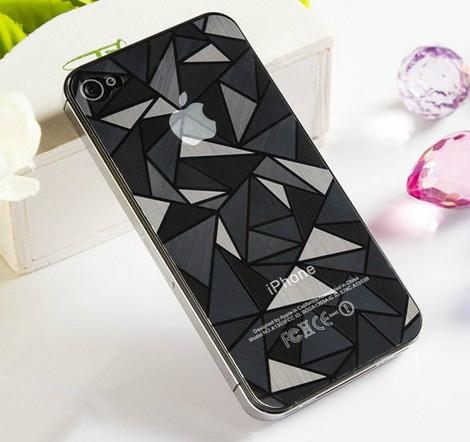 3D Diamond Full Body Front Back Screen Protector Film Guard for iPhone 5S/5 4S/4 3