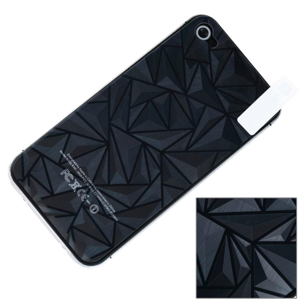3D Diamond Full Body Front Back Screen Protector Film Guard for iPhone 5S/5 4S/4 4