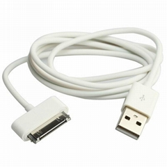 1M PVC Apple iPhone 4 4S iPod touch iPad 5 6 PIN Data Sync USB Cable