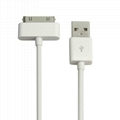 1M PVC Apple iPhone 4 4S iPod touch iPad 5 6 PIN Data Sync USB Cable 2