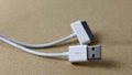 1M PVC Apple iPhone 4 4S iPod touch iPad 5 6 PIN Data Sync USB Cable 3
