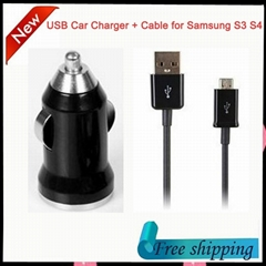 Factory Wholesale Mini USB Car Charger for iPhone iPad Samsung HTC Phones