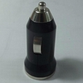 Factory Wholesale Mini USB Car Charger for iPhone iPad Samsung HTC Phones 2