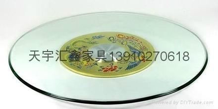 餐厅玻璃转盘 1