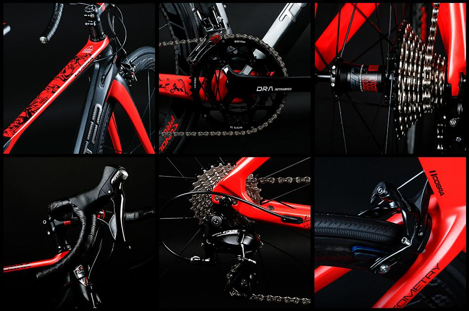 China Bicycle factory TWITTER Carbon road bike COBRA Carbon Wheels 5