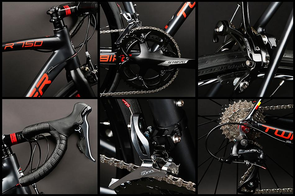 Direct Bicycle Factory TWITTER AL mountain road bike R750 carbon fork  5