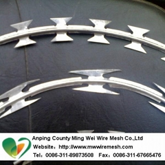 China manufacturer galvanised razor barbed wire