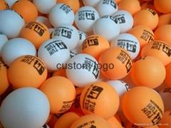 FREE SHIPPING FREE logo print wholesale Customized logo  PP Pingpong ball