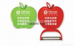 apple peeling knives free print custom logo ,plastic peeler,promotional gift,Fol