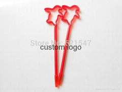 Customized PET penguin shape ballpen with logo min order 1000pcs logo pen