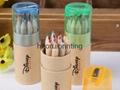 12色彩色铅笔,带削笔刀,免费