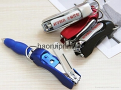 Creative stationery office supplies portable multifunctional nail clippers pen
