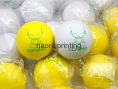 pu foam material round stress release ball free shipping free custom logo print