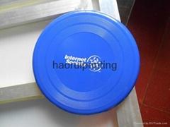 Free shipping Free logo print hard PP plastic frisbee pet dog toy children toy