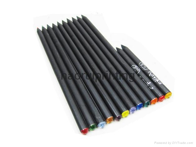高級黒木帶鑽鉛筆,廣告鉛筆 2