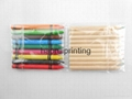Kraft paper box 10PCS pencils +9PCS pastel Pencils set environmental protection  3