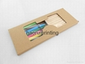 Kraft paper box 10PCS pencils +9PCS pastel Pencils set environmental protection  5