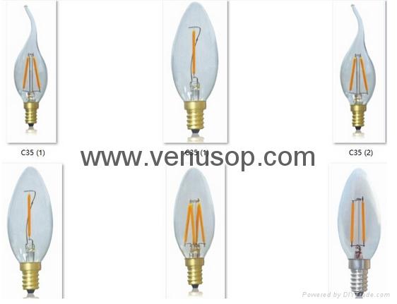 LED Lights Bulb Produce Factory Edison Candle Bulb C35 E27/E14/E12/B22 110V-130 2