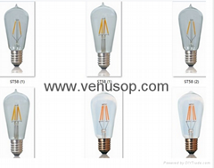 led filament bulu A19 2W 4W 6W 8W led filament bulb dimmable
