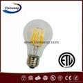 A19 UL listed LED filament bulb