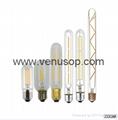 Tubular T14 T10 Vintage LED Filament