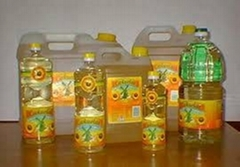 refined  and crude sun flower oil