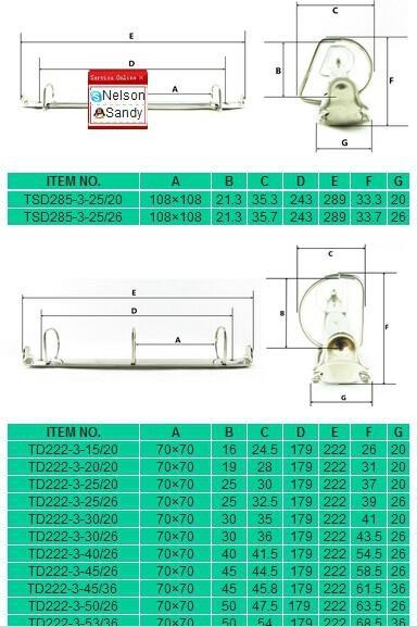 3D ring binder mechanism(trigger open) 2