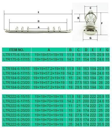 6 ring binder mechanism 5