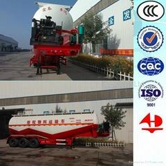 3 axle bulk powder tanker semi trailer