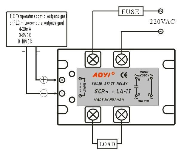 enhanced single phase voltage regulator active scr-75la-ii 25-120a - scr-75la-ii