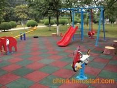 户外儿童游艺设施安全地垫