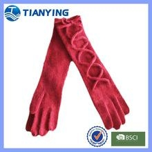 Tianying  women fashion long sexy red acrylic gloves