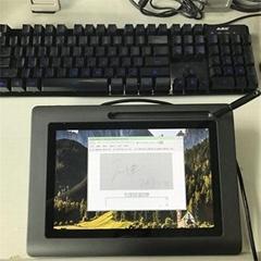 供應工單無紙化簽批10寸電磁電容雙模液晶書寫屏