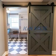 Sliding Barn Door Hardware kit For Wood Door Steel Ball Bearing