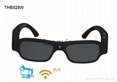 2015 New 1080P HD wearable sports action camera, sunglasses  with wifi and mobil