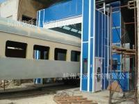 火車機車車廂修補噴烤漆房