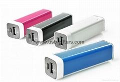 OEM Promo 2600mAh crystal powerbank lipstick mobile charger