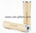 Wood natural 2600mAh portable powerbank 18650 battery charger 4