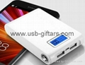 2 year warranty OEM 12000mAh Mobile powerBank with digital LCD Screen