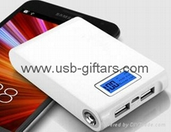 12000mAh Mobile powerBank with digital LCD Screen 4pcs 18650 battery