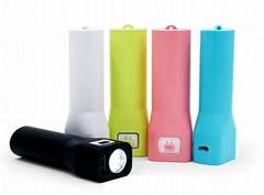 OEM led torch  2600mAh mobile powerbank phone charger